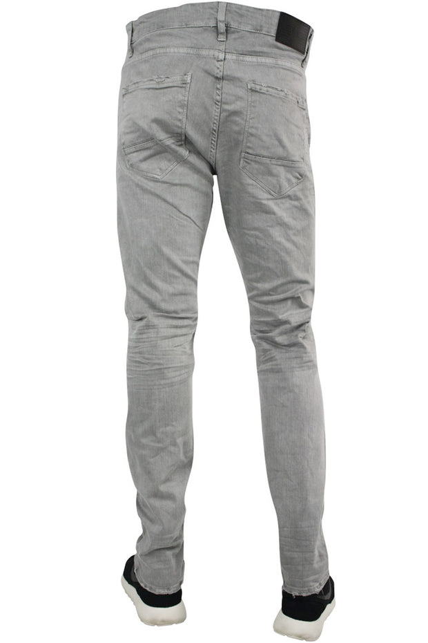 Jordan Craig Slim Fit Moto Twill Denim Light Grey (JM3243) - Zamage