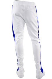 One Stripe Track Pants White - Royal (100-403) - Zamage
