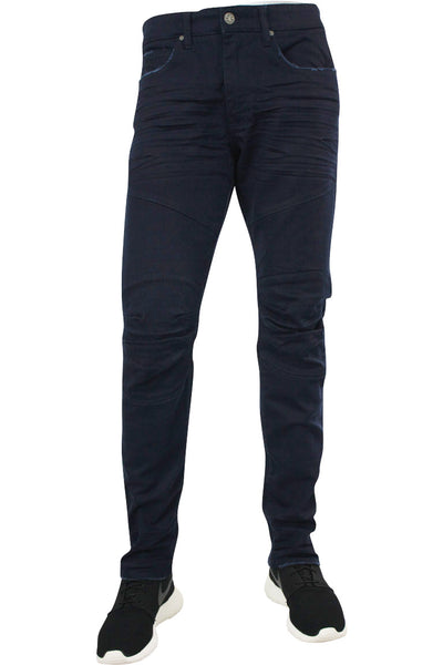 Jordan Craig Slim Fit Moto Twill Denim Navy (JM3243 22S) - Zamage