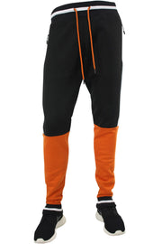 Jordan Craig Color Block Track Pants Black - Orange - White (8317 22S) - Zamage