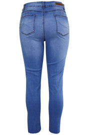 Women's Lifter Slim Fit Denim Royal Blue (WA42671D) - Zamage