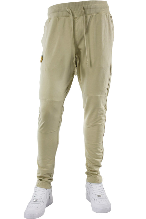 Jordan Craig Embroidered Bear Jogger Beige (8422)