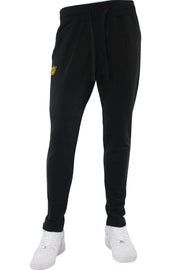 Jordan Craig Embroidered Bear Jogger Black (8422)