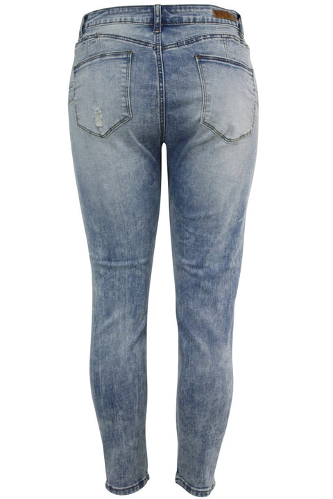 Women's Lifter Slim Fit Denim Sky Blue (WA42667D) - Zamage