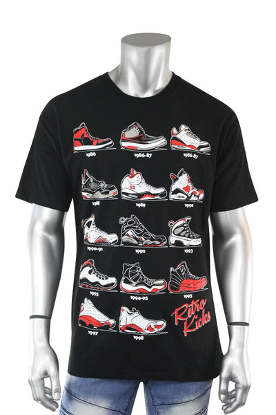 Retro Kicks Tee Black (Retro 22S)