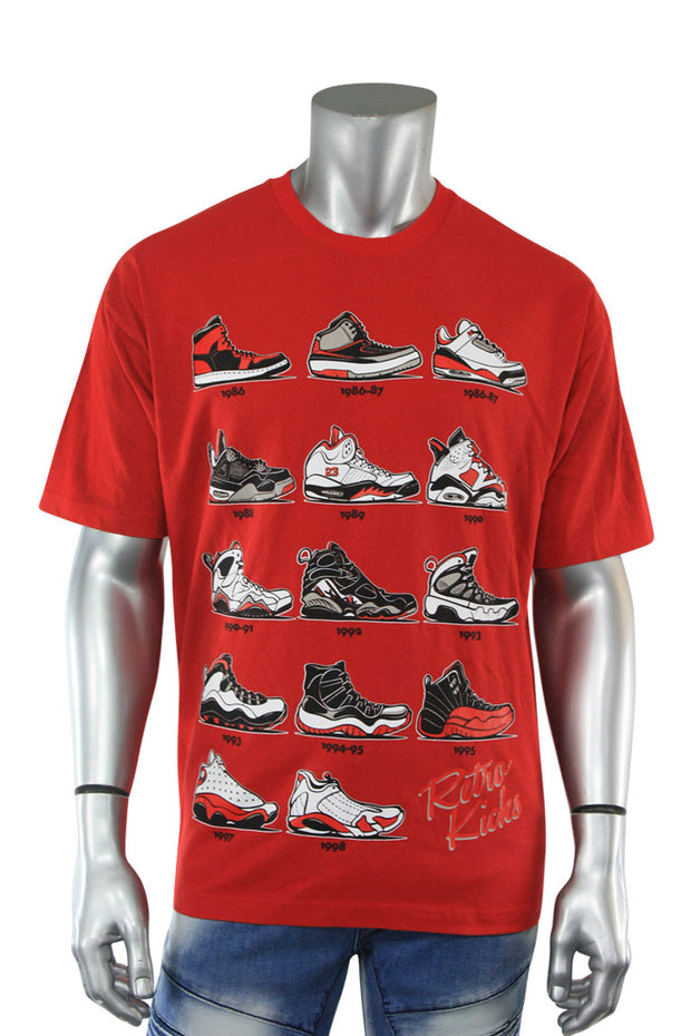 Retro Kicks Tee Red (Retro 22S) - Zamage