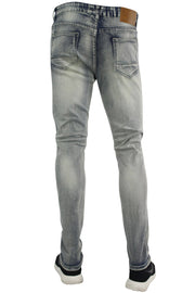 Circle Stitched Skinny Fit Denim Antique Wash (M4572D) - Zamage