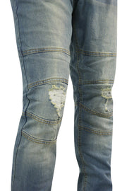 Ripped Knee Skinny Fit Denim Vintage Wash (M4448DA)