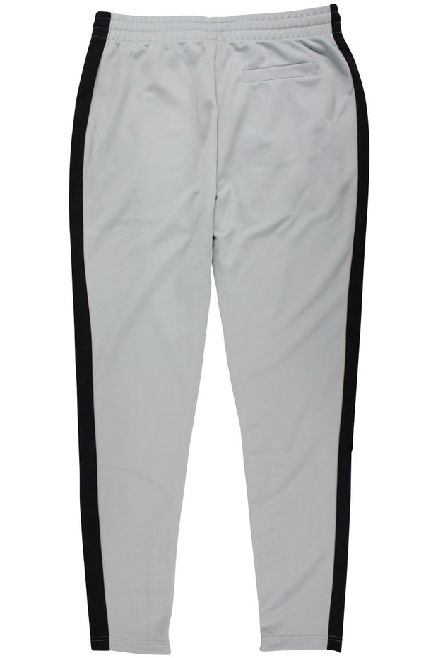 Side Stripe Zip Pocket Track Pants Grey - Black (ZCM4418PS)