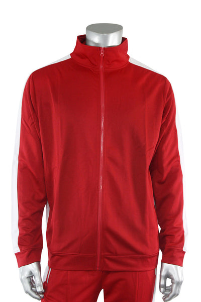 Premium Side Stripe Track Jacket Red - White (ZCM4420Z) - Zamage
