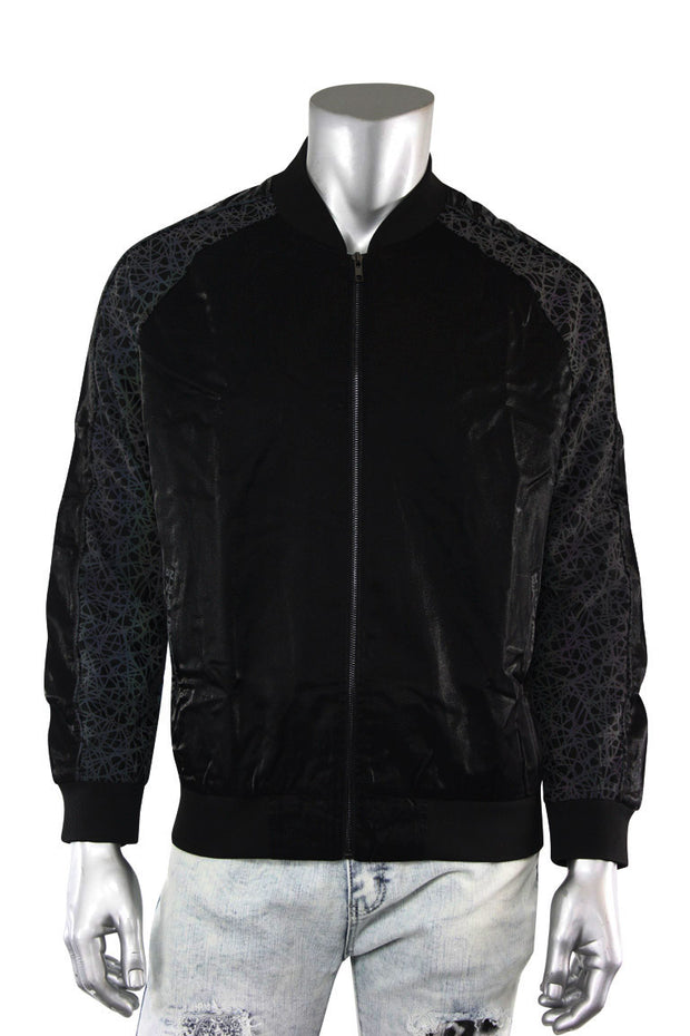 ZCL Reflective Multi Color Track Jacket Black (REFLECTIVE) - Zamage