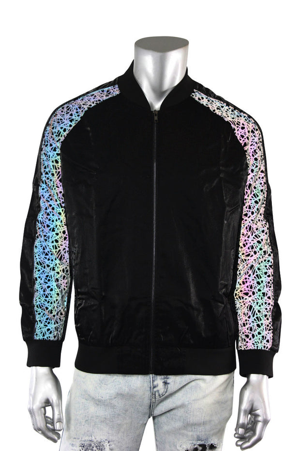 ZCL Reflective Muti Color Track Jacket Black (REFLECTIVE)