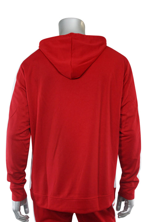 Premium Side Stripe Hoodie Red - White (ZCM4419Z) - Zamage