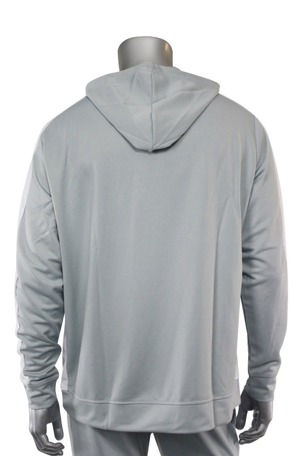 Premium Side Stripe Hoodie Grey - White (ZCM4419Z) - Zamage