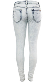 Women's Ripped Slim Fit Denim Ice Blue (PA6111)