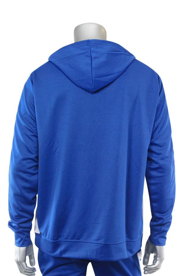Premium Side Stripe Hoodie Royal Blue - White (ZCM4419Z) - Zamage