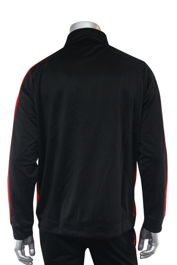 Premium Side Stripe Track Jacket Black - Red (ZCM4420Z) - Zamage