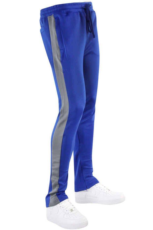 Solid One Stripe Track Pants Royal - Grey (100-402) - Zamage