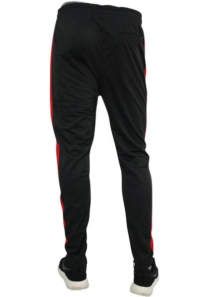 Color Block Track Pants Black - White - Red (1914) - Zamage