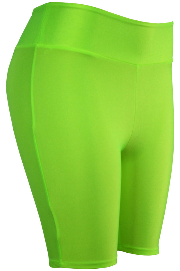 Women's Bermuda Shorts Neon Green (LG902) - Zamage