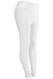 Women's High Waisted Leggings White (LG901) - Zamage