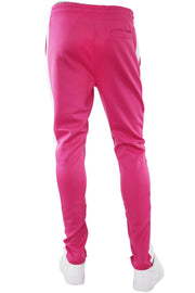 Solid One Stripe Track Pants Fuchsia - White (100-401)