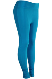 Women's High Waisted Leggings Blue (LG901) - Zamage