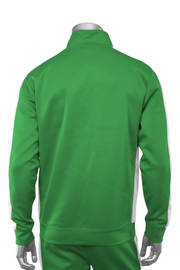 Solid One Stripe Track Jacket Kelly Green - White (100-502)