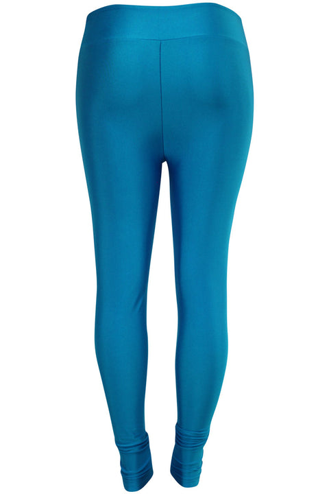 Women's High Waisted Leggings Blue (LG901)