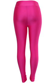 Women's High Waisted Leggings Neon Pink (LG901)