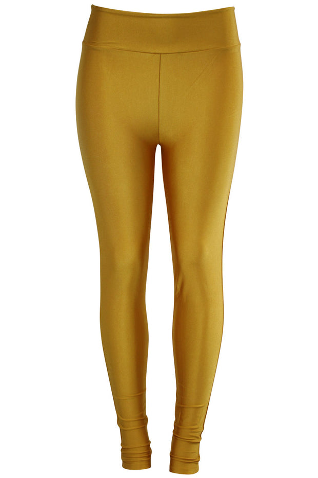 Women's High Waisted Leggings Mustard (LG901)