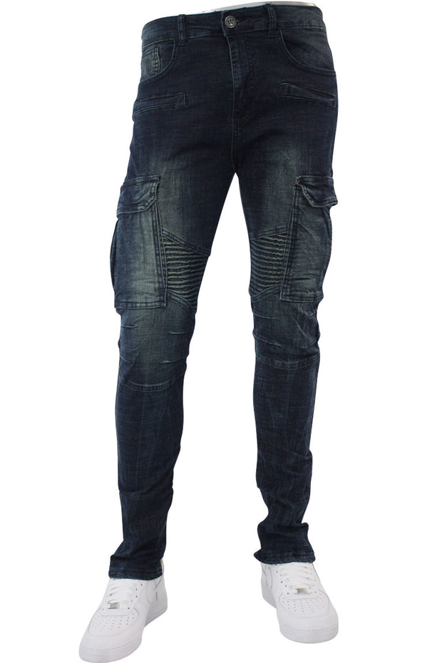 Moto Skinny Fit Denim Dark Vintage (M4641DA)