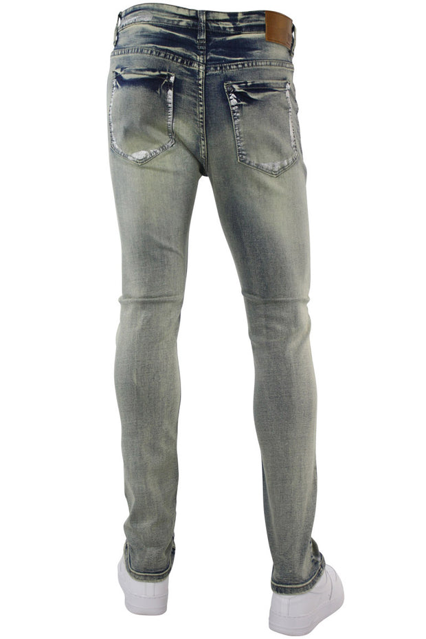 Destroyed Skinny Fit Denim Vintage Brush (M4774D)