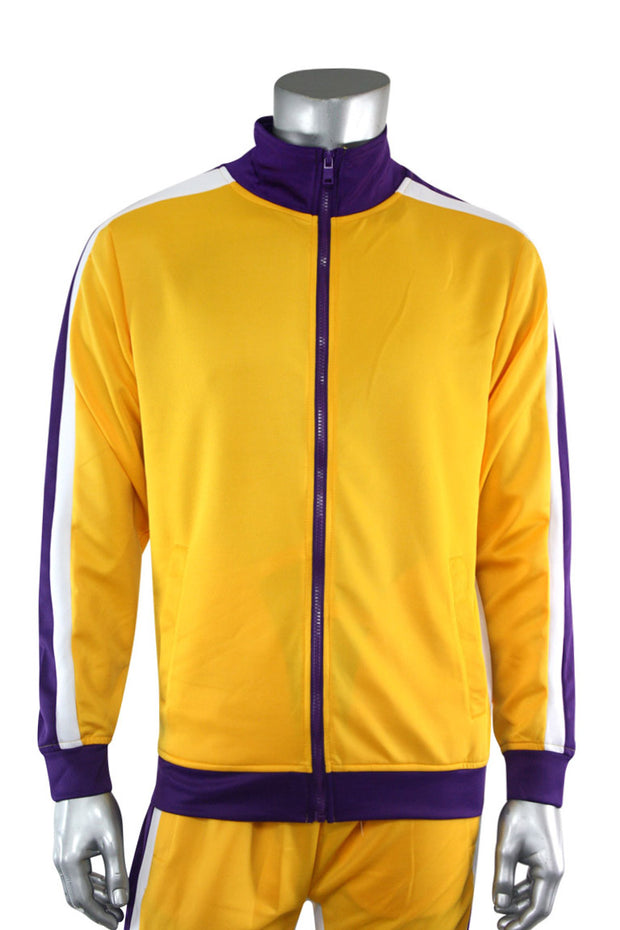 Shane Stripe Track Jacket Gold (111-505) - Zamage