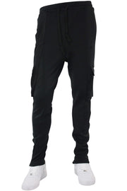 Side Stripe Cargo Track Pants Black - Black (HF9625)