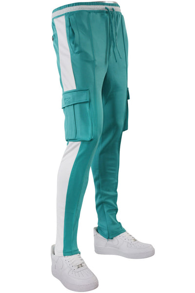 Side Stripe Cargo Track Pants Turquoise - White (HF9625)