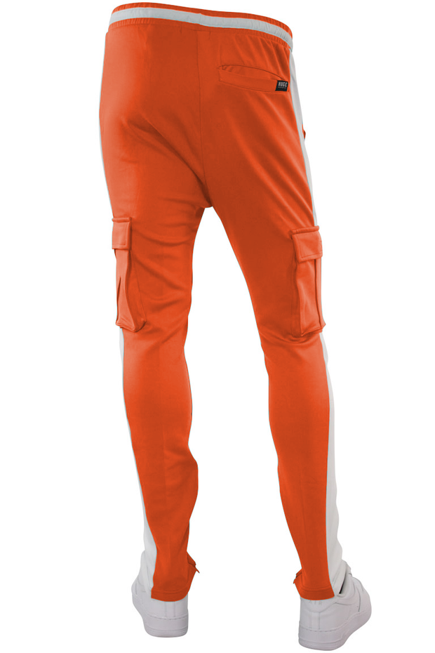 Side Stripe Cargo Track Pants Neon Orange - White (HF9625)