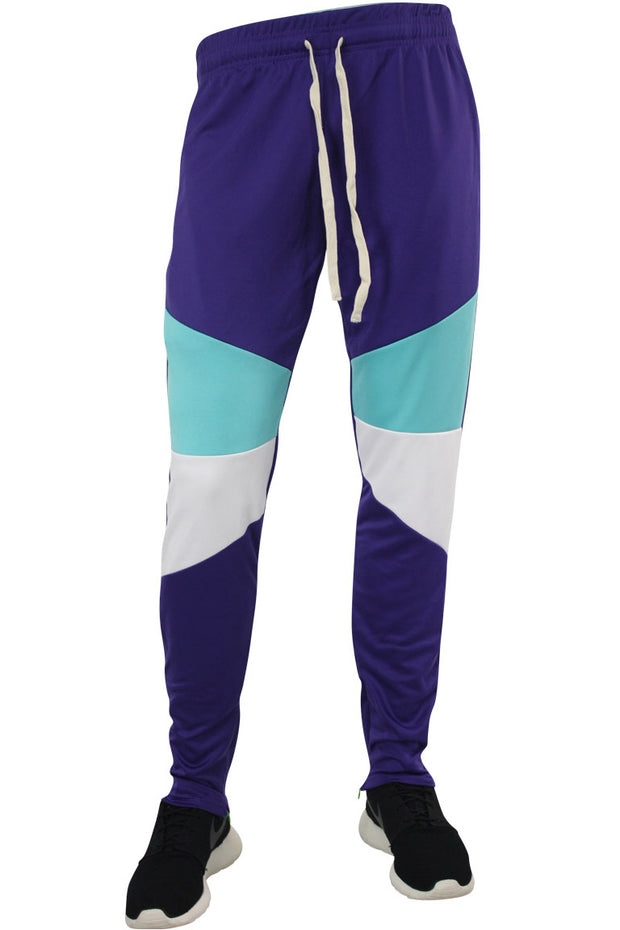 Color Block Track Pants Purple (19710) - Zamage