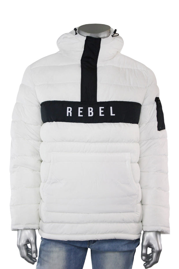 Bubble Hoodie Jacket White (192-570) - Zamage