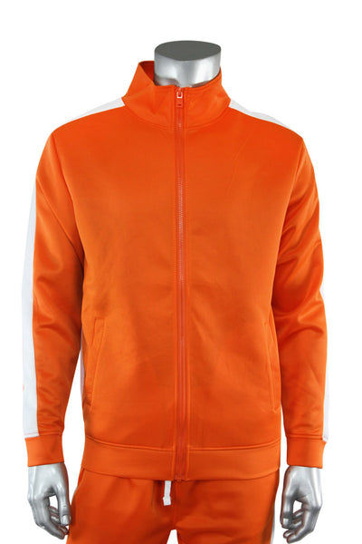 Solid One Stripe Track Jacket Orange - White (100-502)