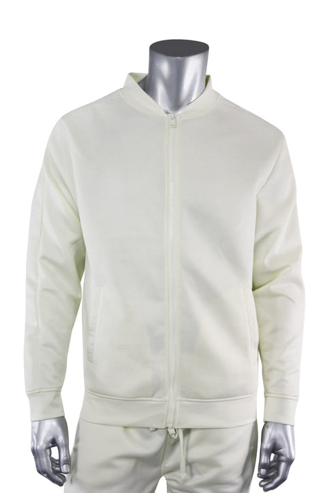 Solid Track Jacket Cream (100-500) - Zamage