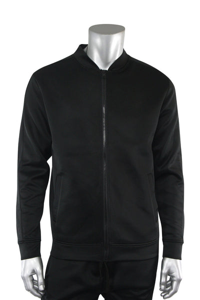 Solid Track Jacket Black (100-500)
