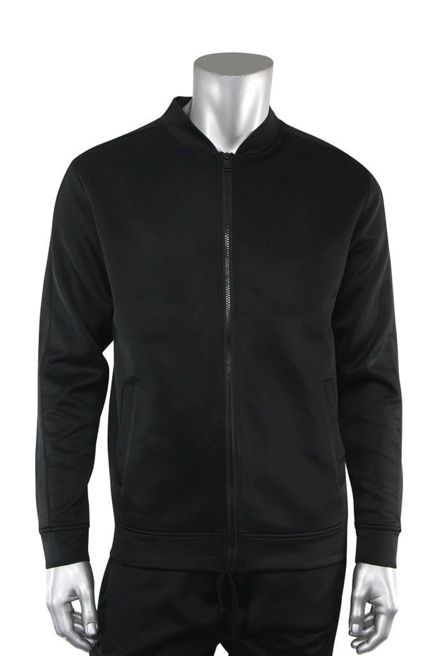 Solid Track Jacket Black (100-500) - Zamage