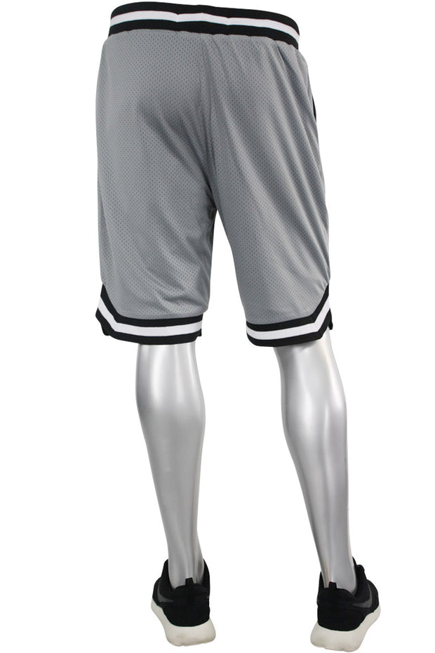 Solid Taping Mesh Shorts Grey (191-920) - Zamage