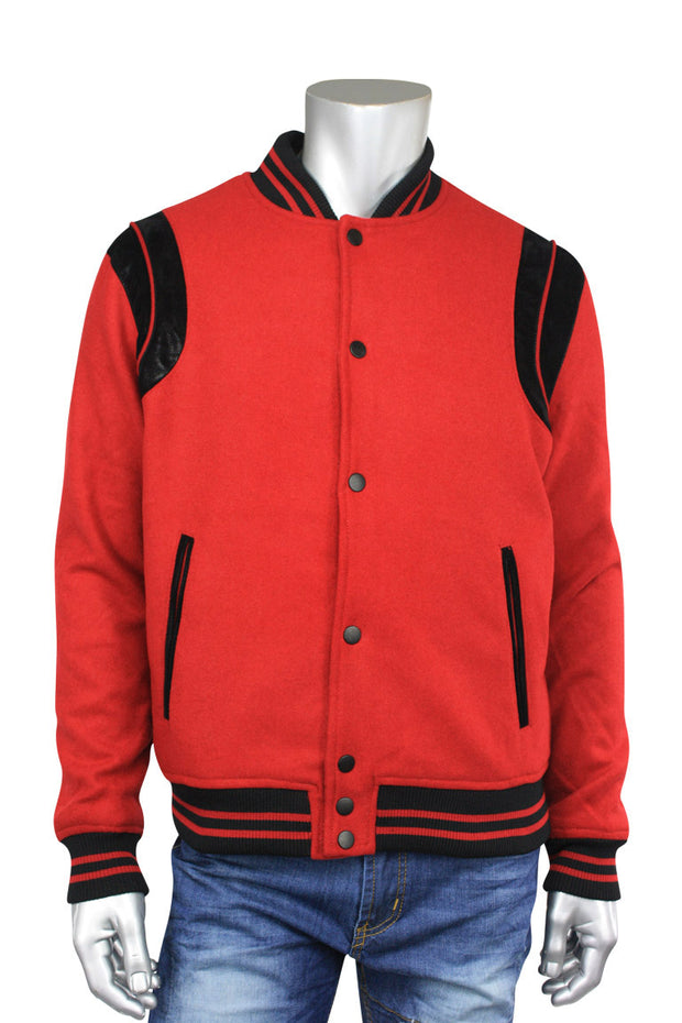 Jordan Craig Wool Varsity Jacket Red (91376 22S) - Zamage