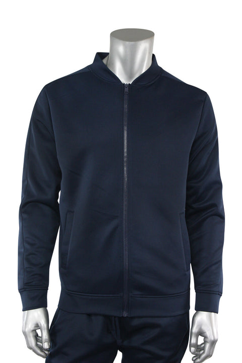 Solid Track Jacket Navy (100-500) - Zamage