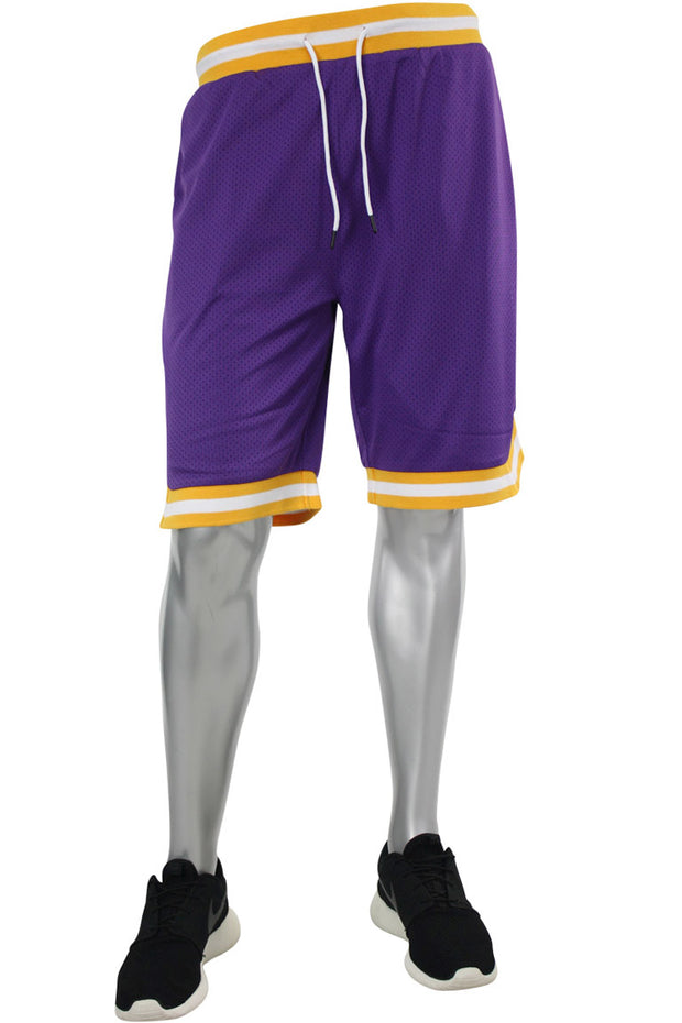 Solid Taping Mesh Shorts Purple (191-920)