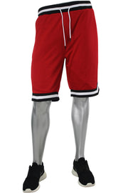 Solid Taping Mesh Shorts Red (191-920)