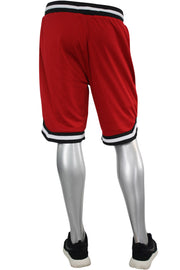 Solid Taping Mesh Shorts Red (191-920) - Zamage