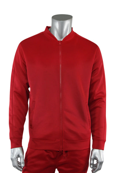Solid Track Jacket Red (100-500) - Zamage